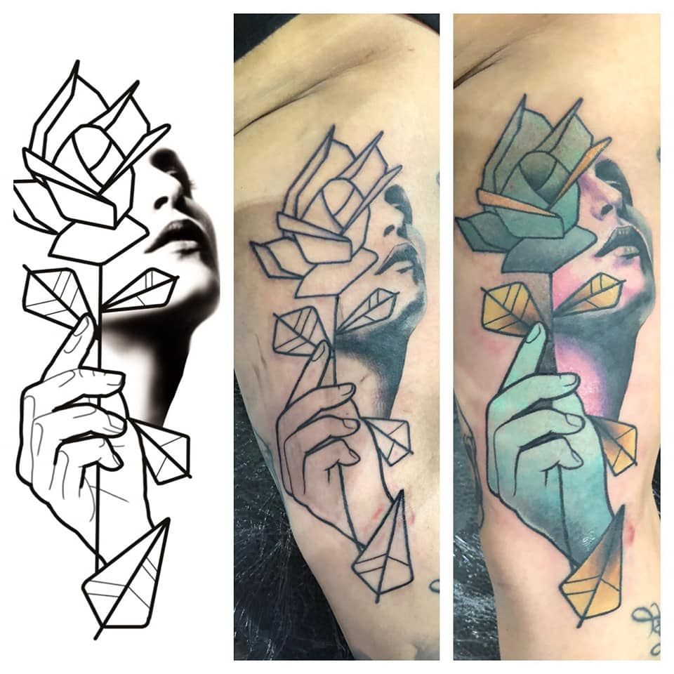 Abstracte Full Color Tattoo Black Sword Tattoo Parlour