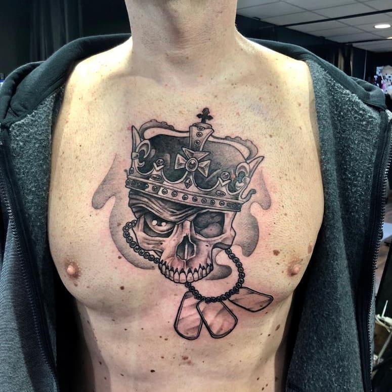 king-skull-tattoo