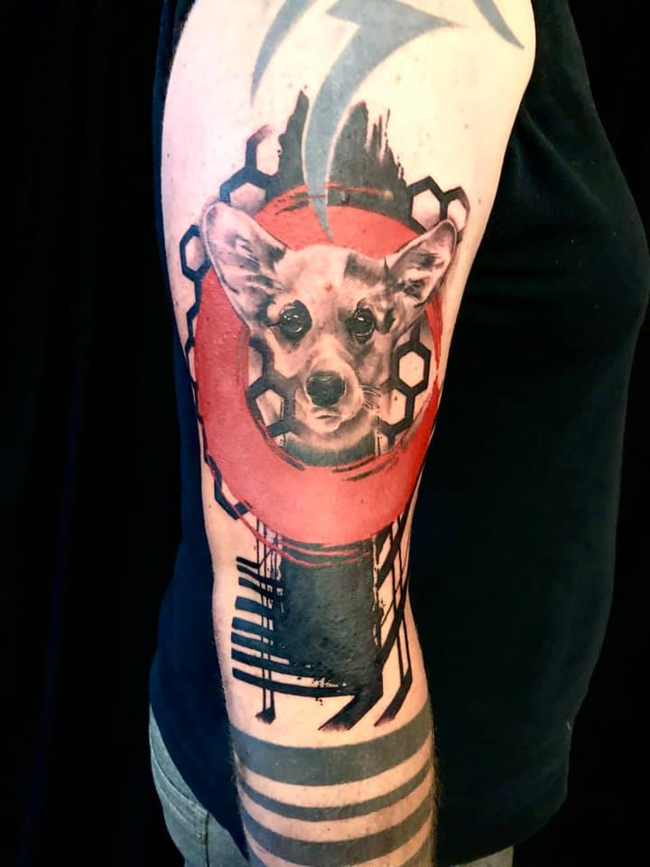 trash-polka-dog-tattoo
