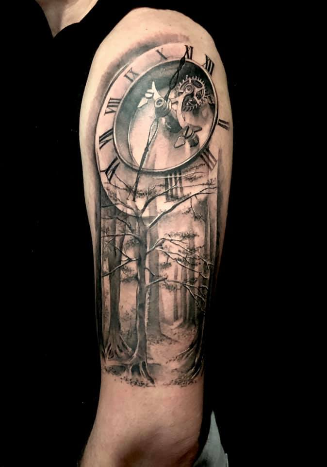 clock-forest-tattoo